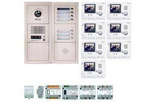 Kit interphone vidéo 7 BP avec moniteurs AIPHONE