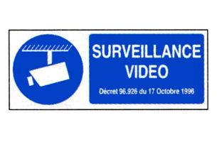 panneau autocollant video surveillance accessoire vid osurveillance autocollant vinyle. Black Bedroom Furniture Sets. Home Design Ideas