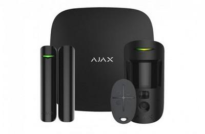 Kit de démarrage avec levée de doute vidéo GPRS/IP noir AJAX