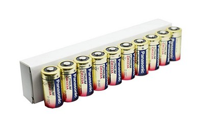 Pack de 10 Piles CR123 Lithium PANASONIC 3V