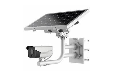 Solution autonome, panneau solaire, pack batterie camera 2MP 2,8mm, 4G, SD 256mo HIKVISION