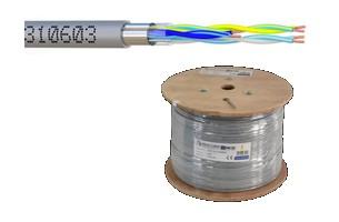 Touret 500 mètres câble 3 paires 6/10ème rigide