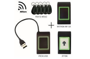 Kit proximité OFFLINE 1 lecteur, 1 bouton poussoir 5 badges XPR