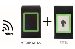 Kit proximité OFFLINE 1 lecteur et 1 bouton poussoir XPR