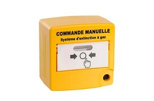 Déclencheur manuel de commande manuelle jaune double contact AXENDIS - AX10070