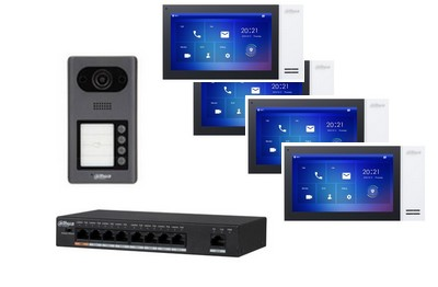 Kit interphonie IP PoE DAHUA