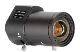 Objectif 3,5 mm à 8 mm, angle de vue :  77 °- 30 °